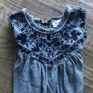 Motherhood Maternity Embroidered Sleeveless Top